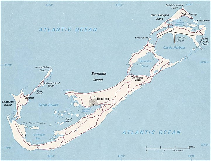 Map of Bermuda