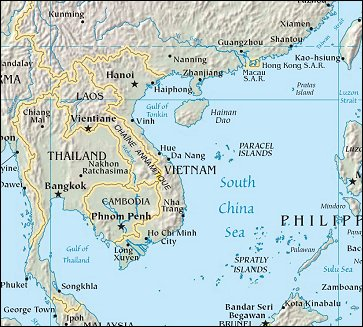 Map of Region around Vietnam